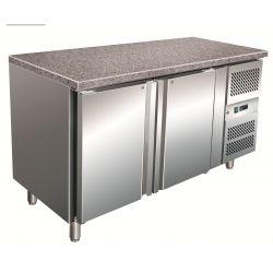 Tavolo refrigerato pasticceria 400lt ventilato con piano in granito