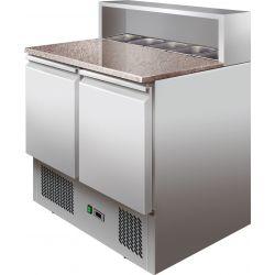 Saladette refrigerate statiche cap.bacinelle GN N.5 1/6 e granito