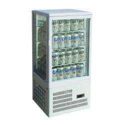Vetrina espositiva 4 lati refrigerazione ventilata positiva - versione da banco cap. 58Lt