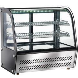 Espositore refrigerato da banco con vetro curvo cap 120Lt