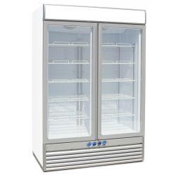Congelatore verticale 2 porte per bibite e vino 1236Lt