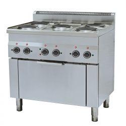 Cucina elettrica 5 piastre forno elettrico a convenzione GN 1/1