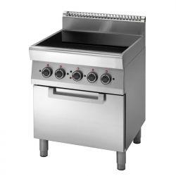 Cucina Elettrica piano di cottura in vetroceramica, forno elettrico a convezione