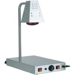 Piano caldo in inox con lampada a raggi infrarossi