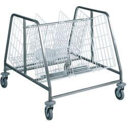 Carrello per ritiro, distribuzione e stoccaggio vassoi portata 200 piatti