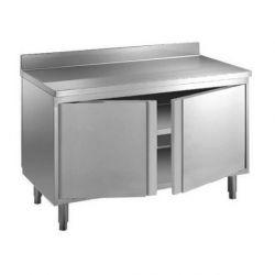 Tavolo armadio porte battenti e alzatina Prof.600 Lungh. 800