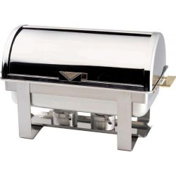 Chafing dish con coperchio roll top