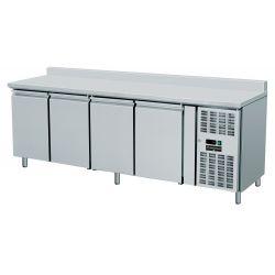 Tavolo refrigerato 4 porte e alzatina GN 1/1 prof.700 TN