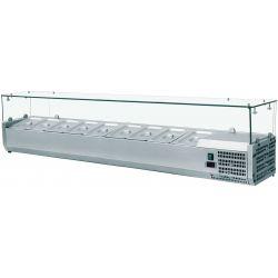 Vetrina refr. vetri piani 120 cm 5 bacinelle 1/4