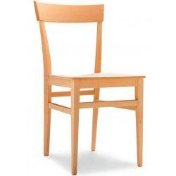 Sedia Evergreen in legno e seduta in legno