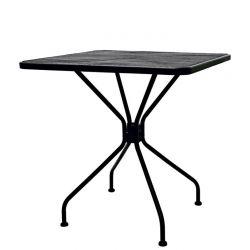Tavolo quadrato da esterno in acciaio verniciato