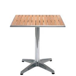 Tavolo da esterno in alluminio e legno