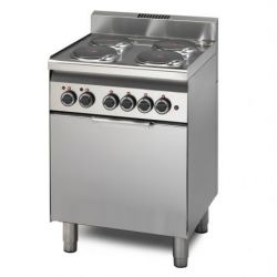 Cucina elettrica 4 piastre potenziata forno elettrico a convenzione GN 2/3