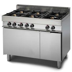 Cucina Gas 6 fuochi forno elettrico a convenzione armadio neutro.