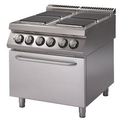 Cucina Elettrica 4 piastre forno Elettrico statico