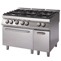 Cucina Gas 6 fuochi forno Elettrico statico armadio neutro bacinelle smaltate