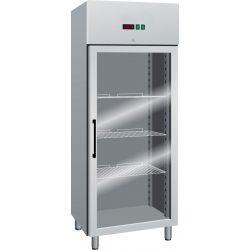 Armadio refrigerato GN 2/1 700 lt TN porta vetro