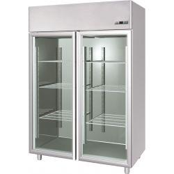 Armadio refrigerato 1400 Lt. temp. -2/+10° 2 porte vetro