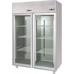 Armadio refrigerato 1400 Lt. doppia temp. 0°/+10° e -18°/-22° porte vetro