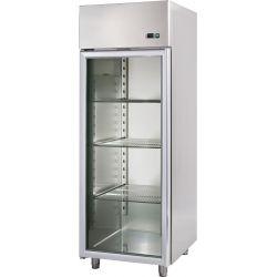 Armadio refrigerato 700 Lt. temp. -18/-22° con porta vetro