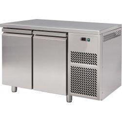 Tavolo refrigerato 2 porte piano in acciaio inox prof.600 BT