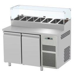 Tavolo refrigerato 2 porte con vetrina prof.700 Snack GN1/1