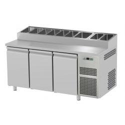 Tavolo refrigerato 3 porte prof.800 Snack
