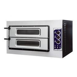 Forno 2 pizze Ø 32 temperatura 500°C porta vetro