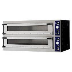 Forno elettrico per 4 teglie 60x40 o 8 pizze Ø 40 - controllo meccanico porta vetro