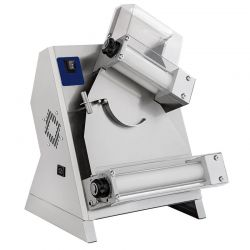 Stendipizza Ø cm 14/30 automatica a rulli inclinati in acciaio inox