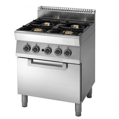 Cucina Gas 4 fuochi forno a Gas bacinelle smaltate