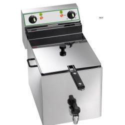 Friggitrice elettrica 10 Lt. con rubinetto vasca singola